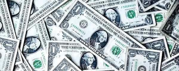 Green banknotes
