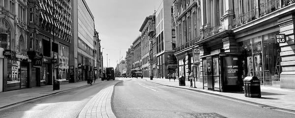 Oxford Street deserted during lockdown